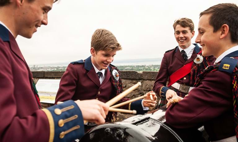 Drumming at Edinburgh Castle