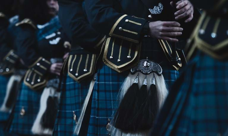 Pipers close up at The Royal Edinburgh Military Tattoo