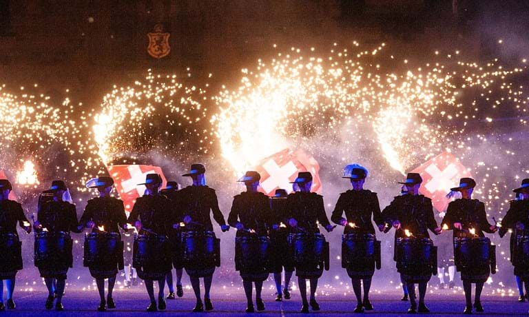 Top Secrets performing at The Royal Edinburgh Military Tattoo 2018